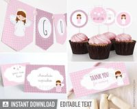 DIY Angel Baby Girl Christian baby celebration kit