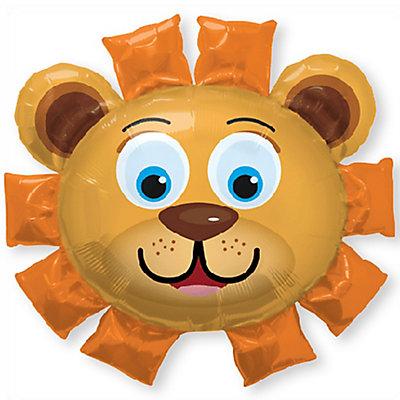 Lion face baby shower balloon decor