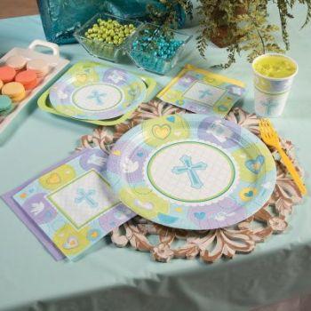 Boys baby dedication baptism party theme