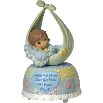 musical Precious moments baby boy figure