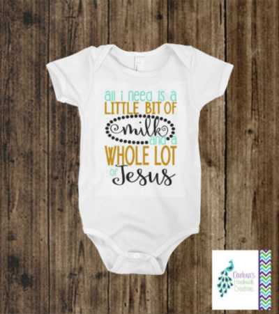 Fun Christian baby body suit