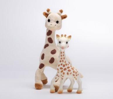 Sophie giraffe plush and baby teething toy set
