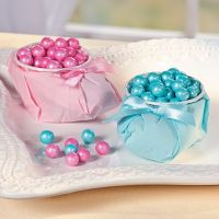 DIY baby shower boot candy favors