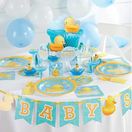 Rubber Duck bubbles baby shower party kit