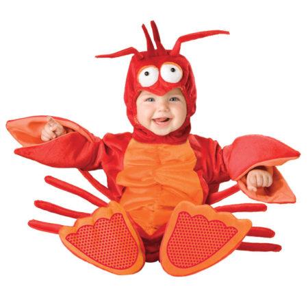 Lobster infant costume