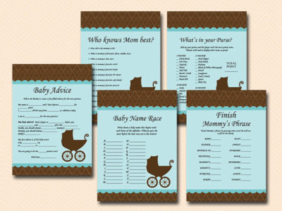 DIY Stroller neutral baby shower games