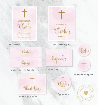Digital Girl's Religious Christian baby party supplikes