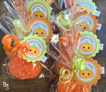 Homemade little pumpkin soaps party giveaways