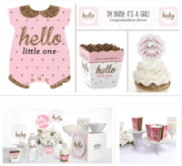 Welcome Little Girl baby shower theme