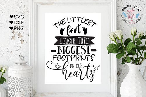 Baby footprints printable picture