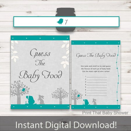 Download Guess Baby Food shower activity