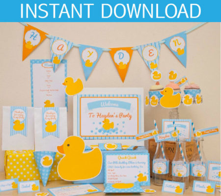 Rubber Ducky Baby Shower kit download