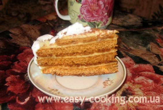 Торт медовый с заварным кремом рецепт