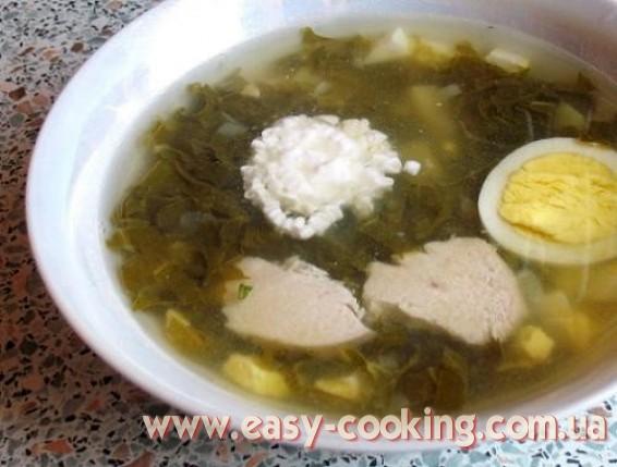 Рецепт зеленого борща со щавелем