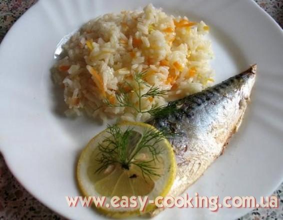Скумбрия, запеченная в духовке с лимоном