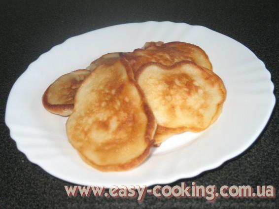 Рецепт оладьев с яблоками