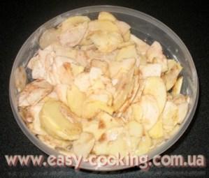 Яблучний пиріг з пісочним тістом