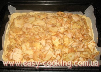 яблочный пирог с песочным тестом