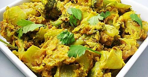 capsicum broccoli sabzi