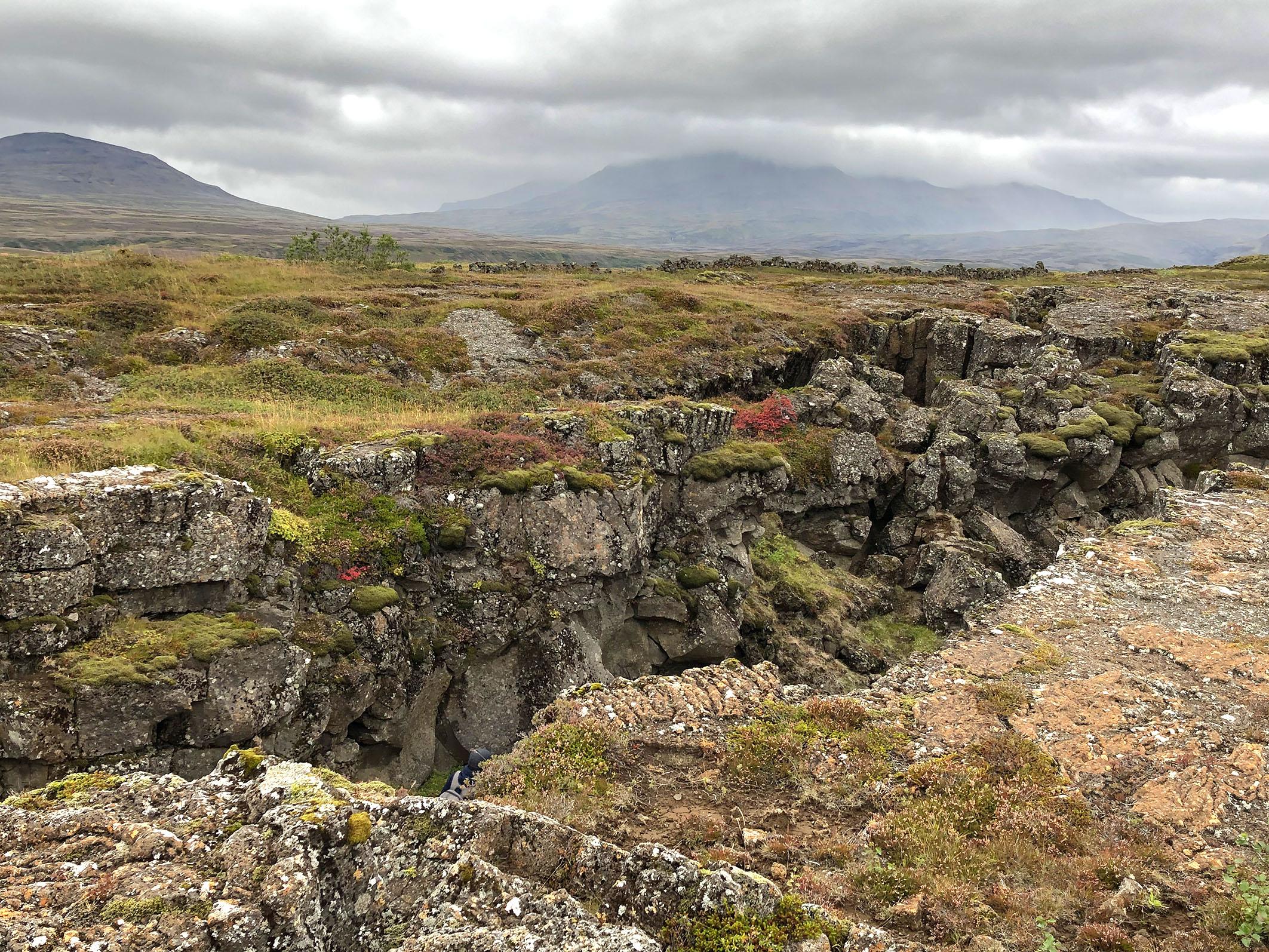 Thingviller Landschaft Graben