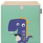 ELLEMOI Kinder Aufbewahrungsbox 33x33x33 Spielzeugbox Praktische Aufbewahrungsbox für Kinderzimmer (Kleiner Dinosaurier)