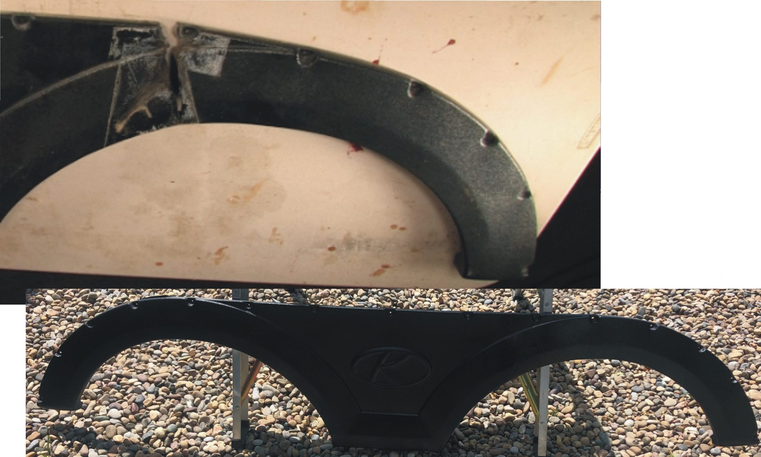 RV Fender Skirt Repair