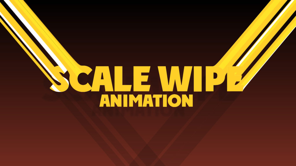Scale Wipe Motion Graphics Tutorial