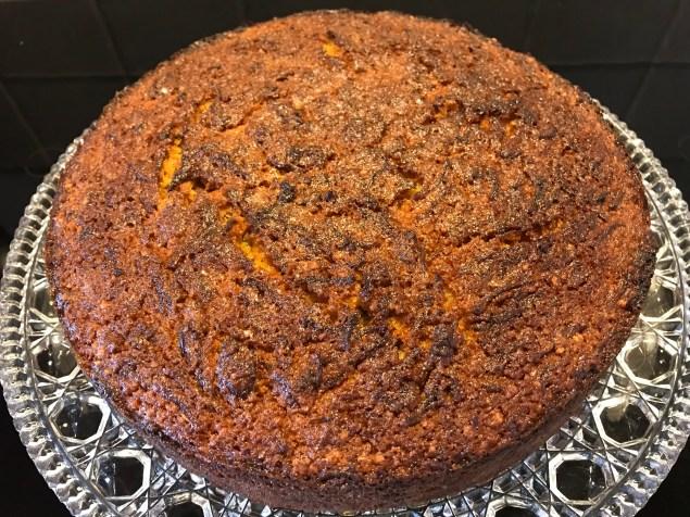 Carrot cake uniced