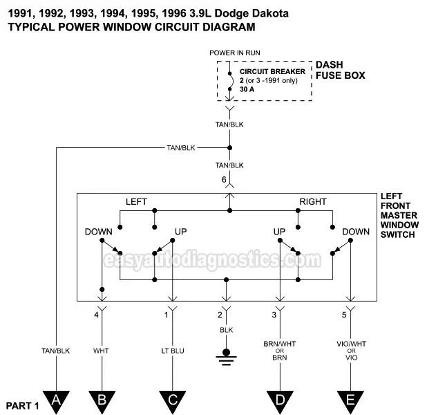 92 dodge ram power window wiring diagram  wiring diagram
