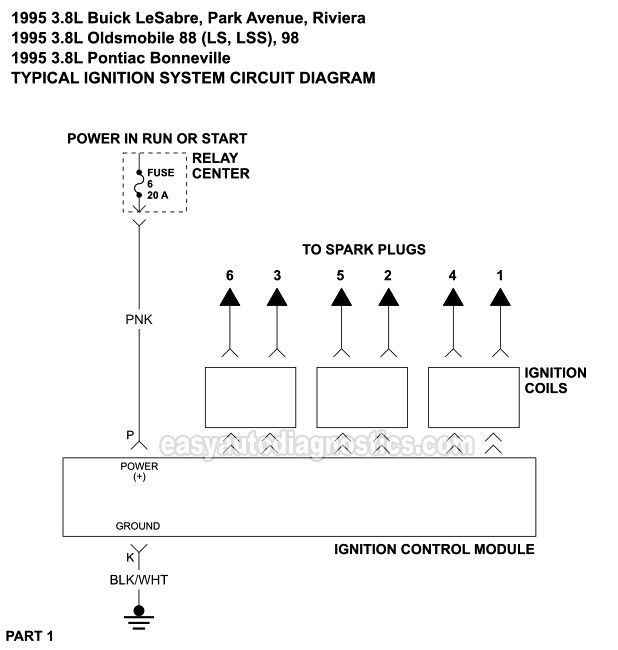ignition system wiring diagram 1995 38l buick oldsmobile