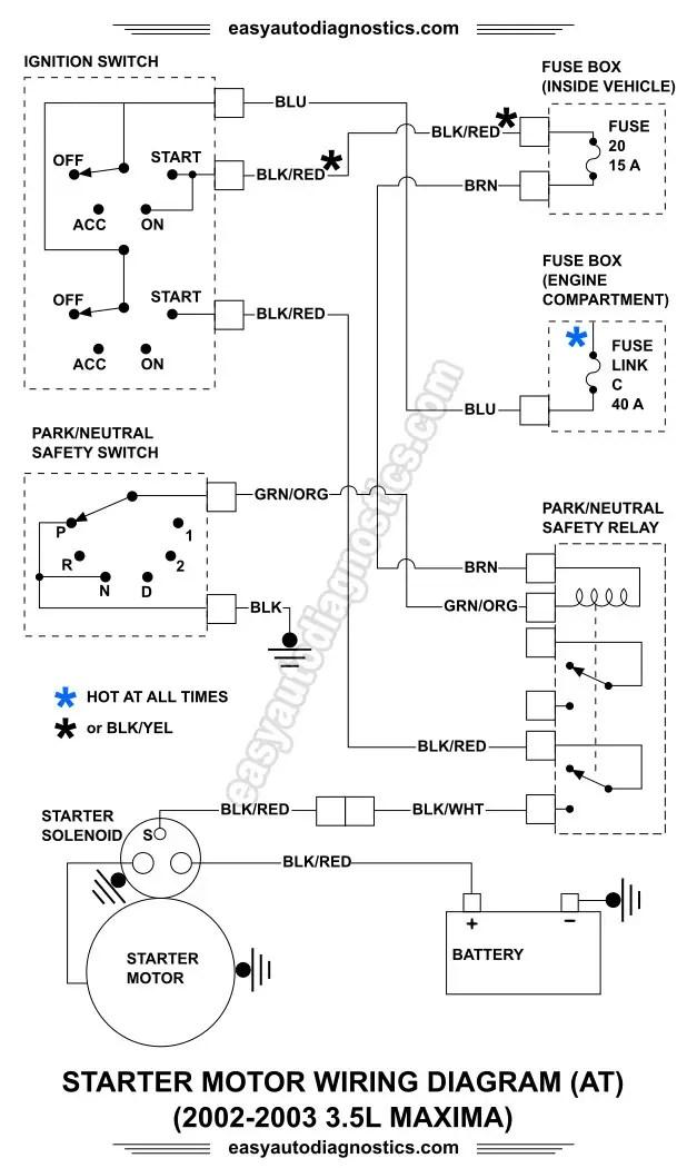 nissan maxima starter wiring  l14 plug wiring diagram