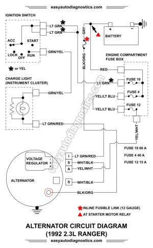 Part 1 19921994 23L Ford Ranger Alternator Wiring Diagram