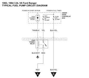 Part 1 19931994 30L V6 Ranger Fuel Pump Circuit Diagram