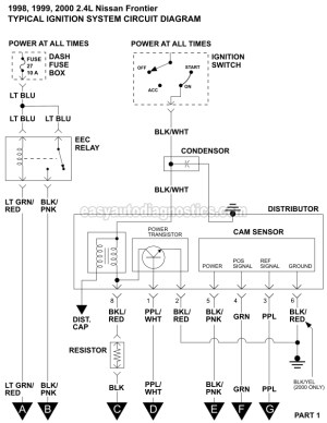 Ignition System Wiring Diagram (19982000 24L Nissan Frontier)