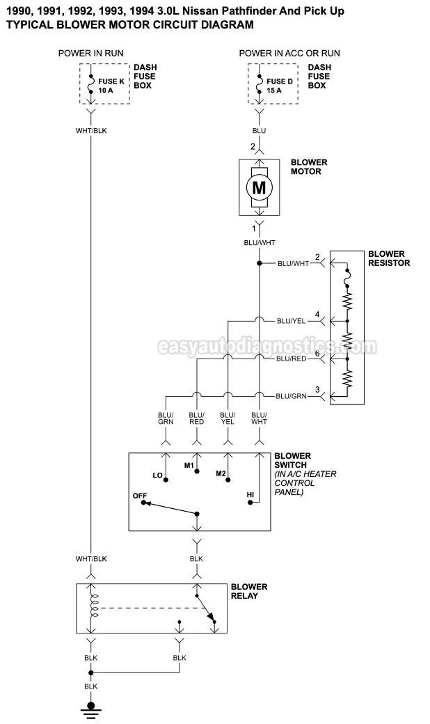part 1 blower motor circuit diagram 19901995 nissan