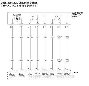 Part 1 TAC System Wiring Diagram (20052009 22L Chevrolet Cobalt)