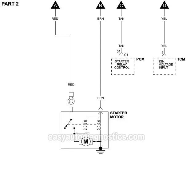 2008 chrysler sebring starter wiring diagram  wiring