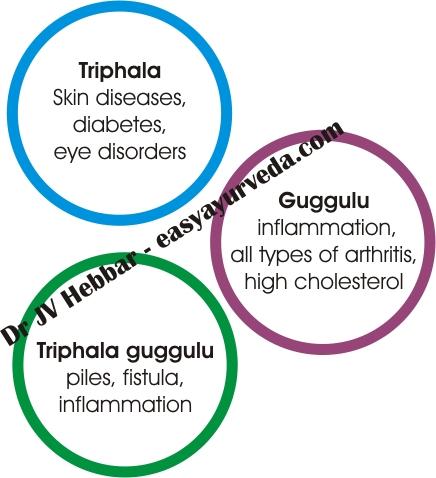 Difference Between Triphala Churna, Guggulu and Triphala