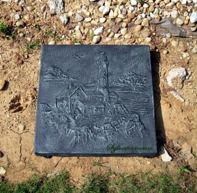 Verdigris Paint Garden Stepping Stones