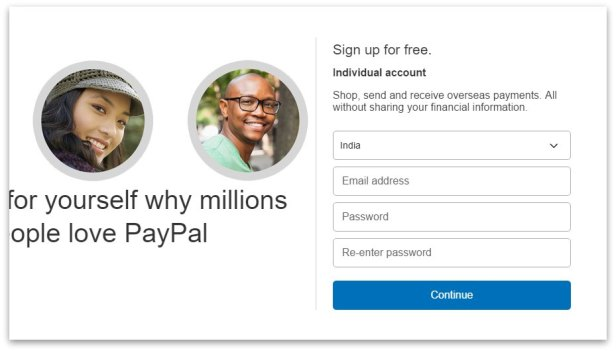how to create PayPal account step 4
