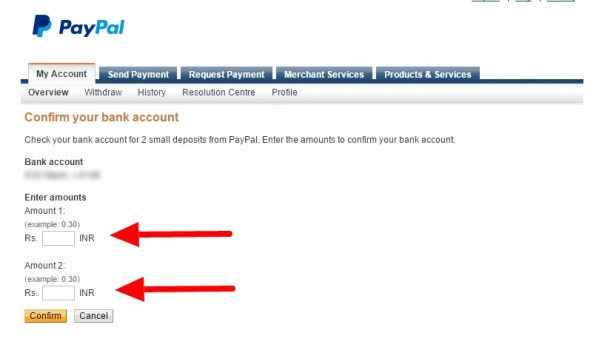 006_Confirm your bank account – enter deposit amounts – PayPal