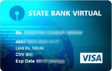sbi virtual card image