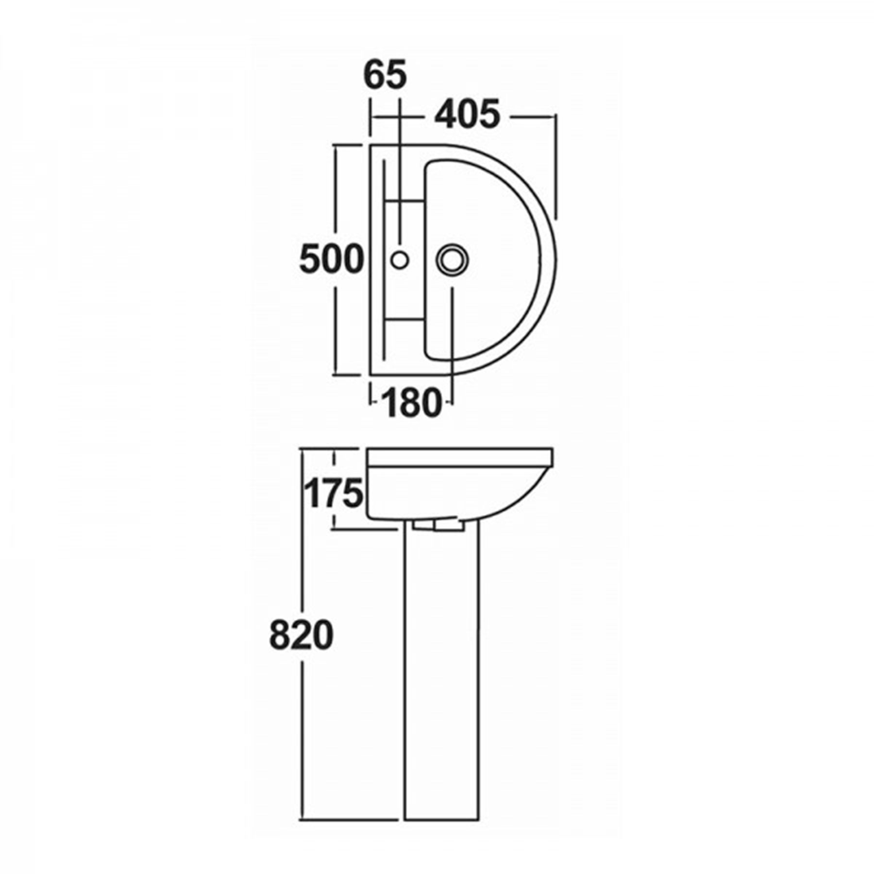 Modern Close Coupled Toilet Amp 500mm Full Pedestal Basin