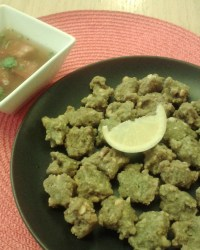 Peanut and Mint fritters (pakoda)
