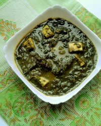Palak Paneer (Spinach with Indian Cottage cheese)