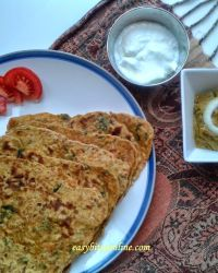 Sweetcorn Carrot Paratha