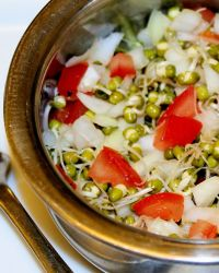 Simple Green Gram Sprouts Salad