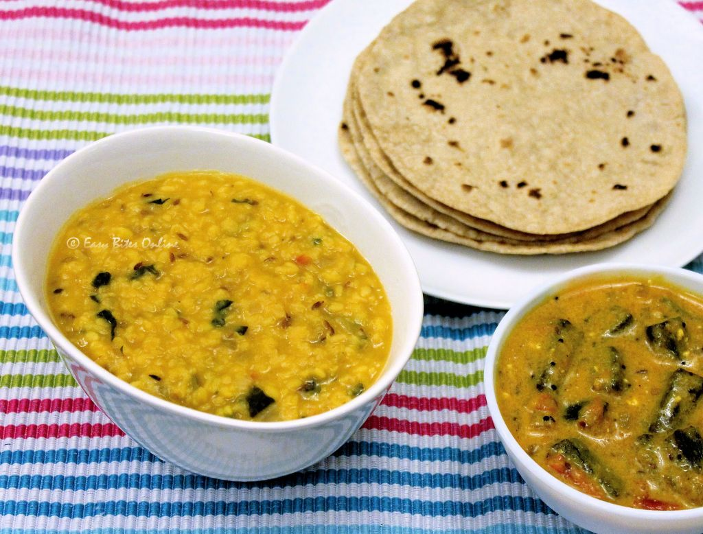 mung dal with spinach
