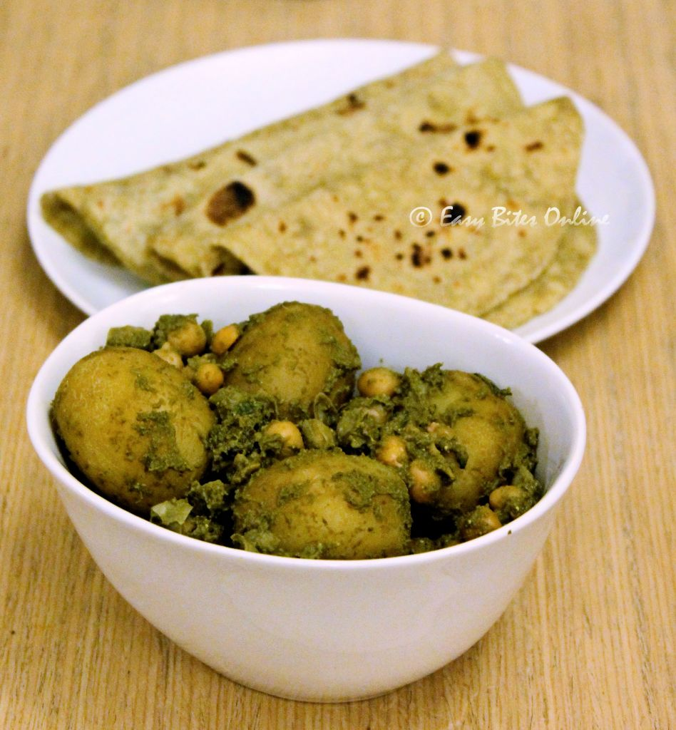 baby potatoes in green masala