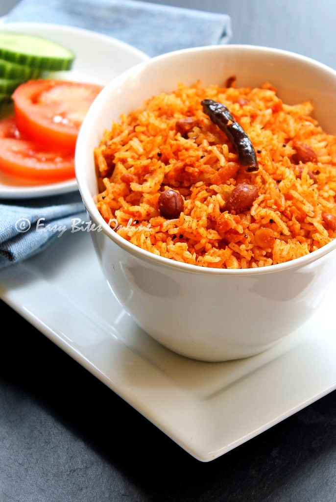 spicy carrot rice with mustard